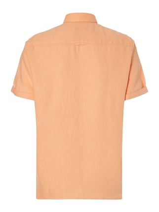 Marc O'Polo Regular Fit Leinenhemd mit kurzem Arm Orange - 1
