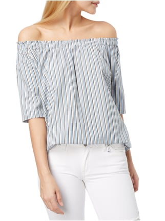 Marc O'Polo Off Shoulder Blusenshirt mit Streifenmuster Jeans - 1