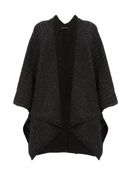 online store 4e9c8 ddbdb MARC-O-POLO Oversize Cape aus Woll-Mix in Grau / Schwarz ...