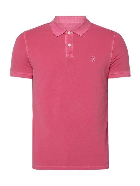 Marc O'Polo Poloshirt im Washed Out Look Pink