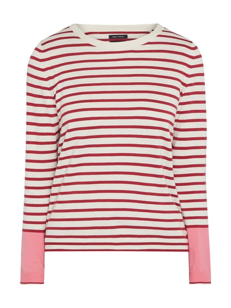 Marc O'Polo Pullover mit Streifenmuster Rot - 1