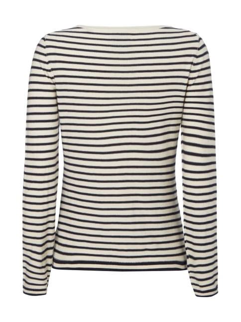 Marc O'Polo Pullover mit Streifenmuster im Inside-Out-Look Offwhite - 1