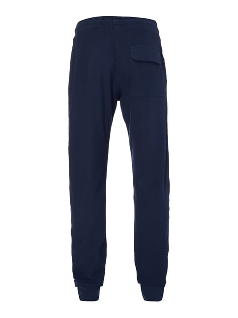 Marc O'Polo Pyjamahose aus strukturiertem Sweat Marineblau - 1