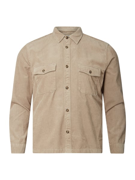 Marc O'Polo Regular Fit Cordhemd aus Bio-Baumwolle Beige - 1