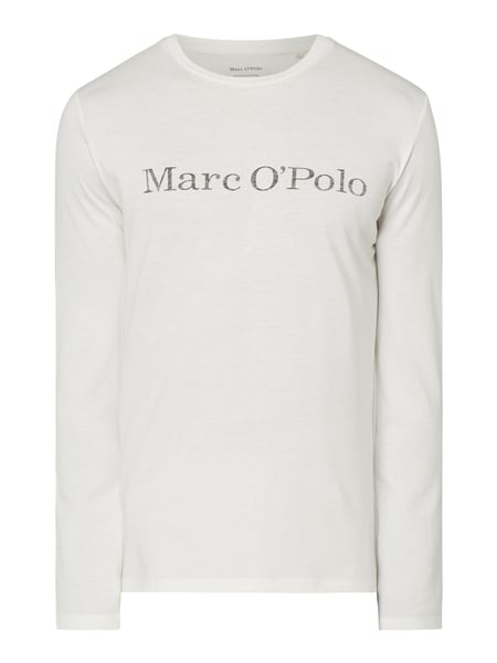 Marc O'Polo – Regular Fit Longsleeve aus Organic Cotton – Offwhite