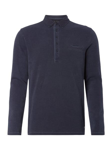 Marc O'Polo Regular Fit Longsleeve mit Brusttasche Himmelblau