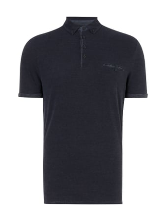 Regular Fit Poloshirt mit Button-Down-Kragen Blau / Türkis - 1