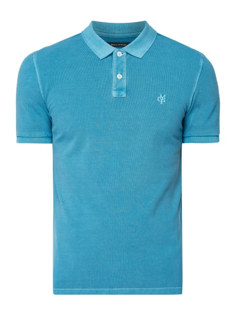 0c3aa3572b Marc O'Polo Regular Fit Poloshirt mit Logo-Stickerei Türkis ...