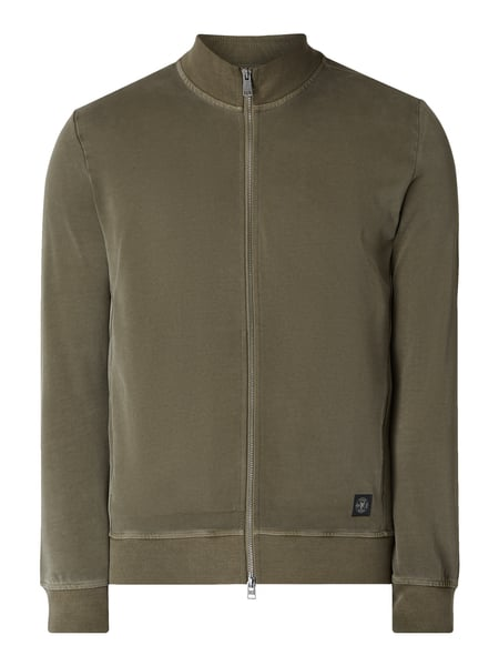 Marc O'Polo Regular Fit Sweatjacke im Washed Out Look Grün - 1