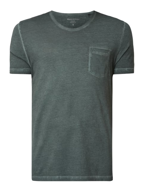 83f007e697ef67 Marc O Polo Regular Fit T-Shirt im Washed Out Look Grün ...
