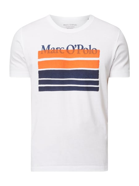 7a50345bd4 MARC-O-POLO Relaxed Fit T-Shirt aus Organic Cotton in Weiß online ...