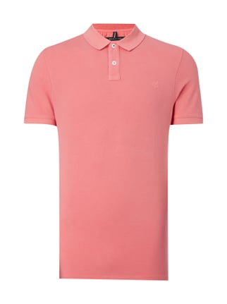 Shaped Fit Poloshirt aus Baumwoll-Piqué Rosé - 1