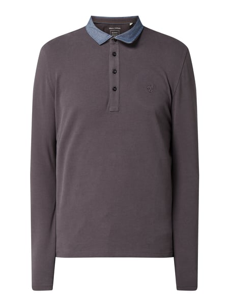 Marc O'Polo Shaped Fit Poloshirt aus Organic Cotton Grau - 1