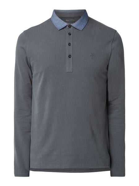Marc O'Polo Shaped Fit Poloshirt aus Organic Cotton Grün - 1