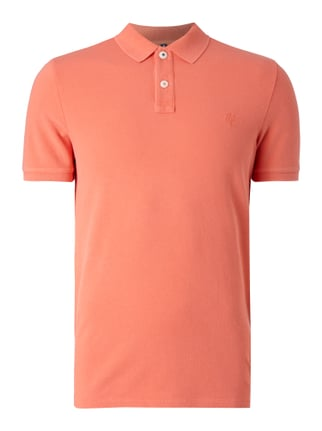 Shaped Fit Poloshirt aus reiner Baumwolle Orange - 1