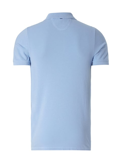 Marc O'Polo Shaped Fit Poloshirt aus reiner Baumwolle Ozean Blau - 1