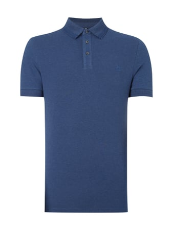 Shaped Fit Poloshirt mit Logo-Stickerei Blau / Türkis - 1