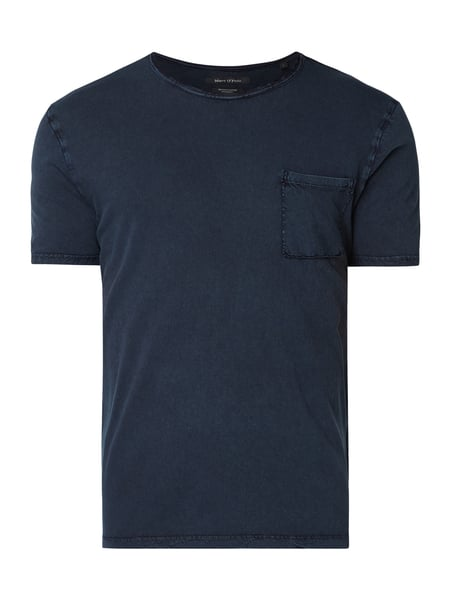 Marc O'Polo Shaped Fit T-Shirt aus Organic Cotton Blau - 1