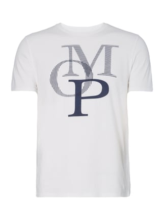 Shaped Fit T-Shirt mit Logo-Print Weiß - 1