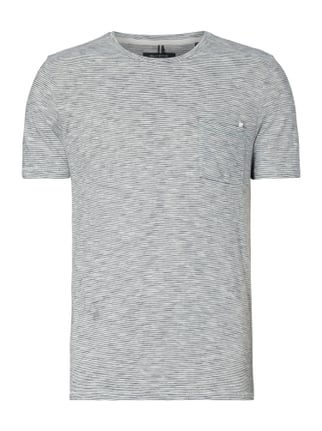 Shaped Fit T-Shirt mit Streifenmuster Blau / Türkis - 1