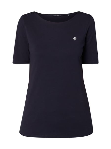 Marc O'Polo Shirt mit 1/2-Arm Marineblau
