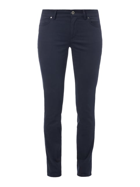 Slim Fit 5-Pocket-Hose mit Stretch-Anteil Blau / Türkis - 1