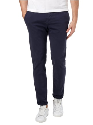 Marc O'Polo Slim Fit Chino aus Baumwoll-Elasthan-Mix Marineblau - 1