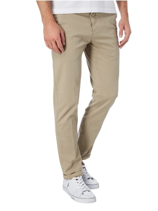 Marc O'Polo Slim Fit Chino aus Baumwoll-Elasthan-Mix Beige - 1