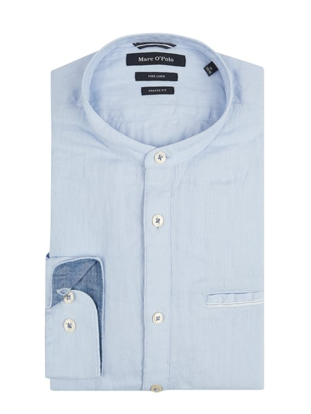 Marc O'Polo Slim Fit Leinenhemd Blau - 1