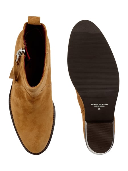 competitive price f4547 c5350 Marc O'Polo – Stiefelette aus Veloursleder – Cognac