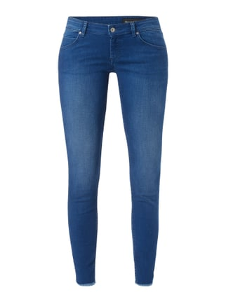 Stone Washed Cropped Jeans Blau / Türkis - 1