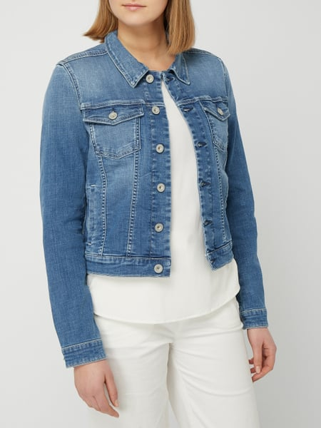 2baa34a3fa MARC-O-POLO Stone Washed Jeansjacke mit Pattentaschen in Blau ...