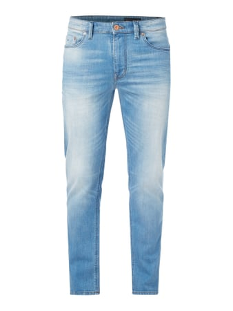 Stone Washed Shaped Fit Jeans Blau / Türkis - 1