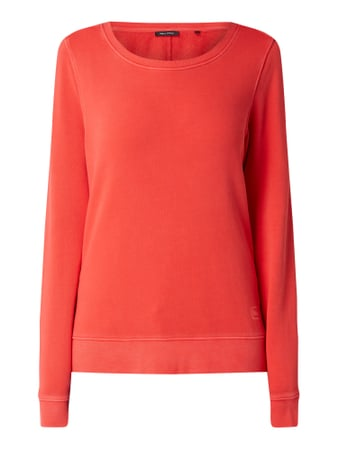 Marc O'Polo Sweatshirt im Washed Out Look Rot - 1
