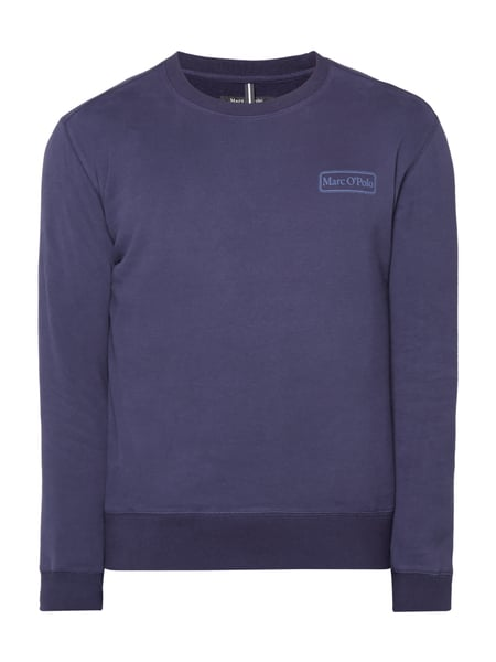 Marc O'Polo Sweatshirt mit Logo-Prints Marineblau