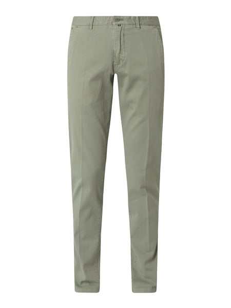 Marc O'Polo Tapered Fit Chino mit Stretch-Anteil Modell 'Stig' Grün - 1