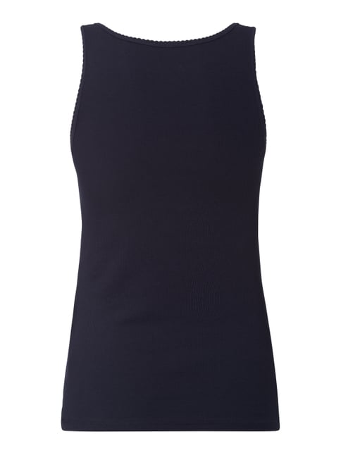 Marc O'Polo Top mit Rippenstruktur Marineblau - 1