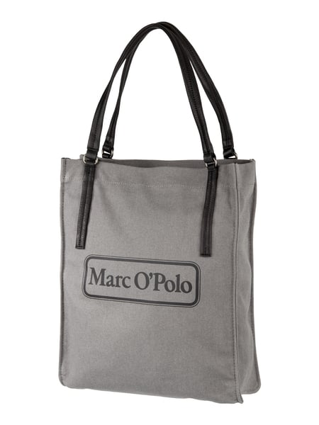 marc o polo tote bag mit trageriemen aus leder in grau schwarz online kaufen 9706169 p c. Black Bedroom Furniture Sets. Home Design Ideas