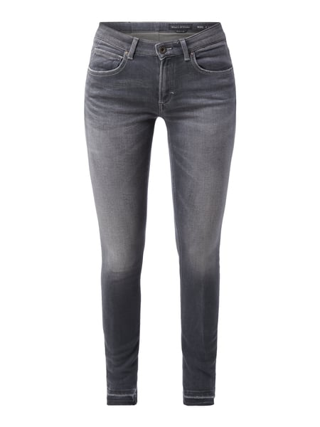 Marc O'Polo Used Look Skinny Sweatjeans Graphit meliert
