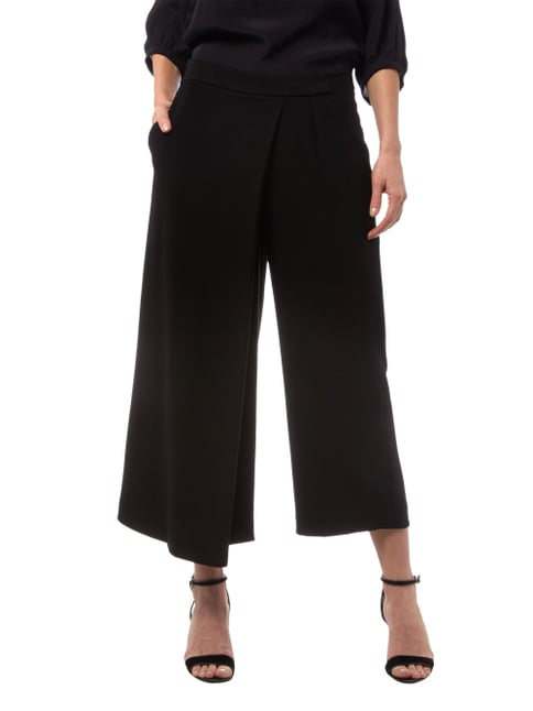 Marc O'Polo Pure Culotte in Wickeloptik Schwarz - 1