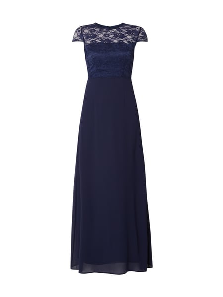Marie Blanc Abendkleid mit Cut Out Blau - 1