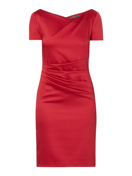 Cocktailkleid aus Satin Rot - 1