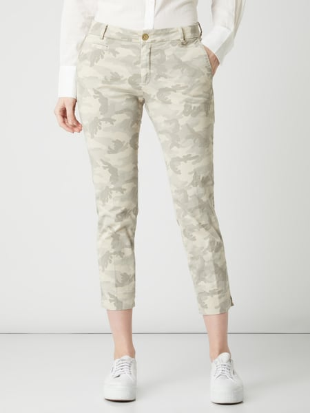 Mason's – Chino mit Camouflage Muster Modell 'Jacqueline' – Beige