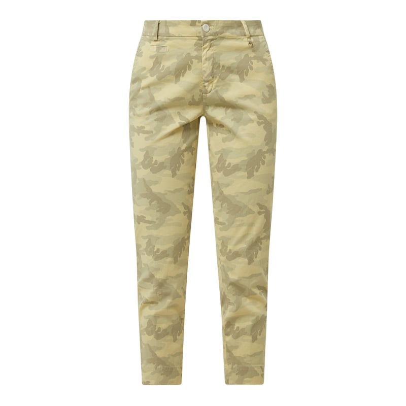 Cropped Curve Fit Chino mit Camouflage-Muster Modell 'Jacqueline', Peek & Cloppenburg