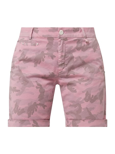 Mason's Curve Fit Chino-Shorts mit Camouflage-Muster Modell 'Jacqueline' Rosa - 1