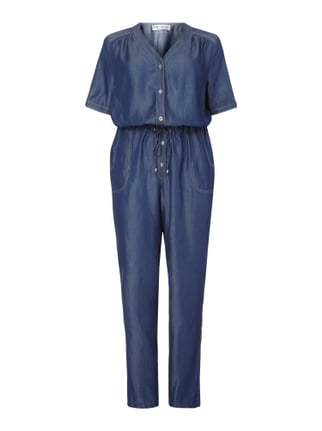 PLUS SIZE - Jumpsuit in Denimoptik Blau / Türkis - 1