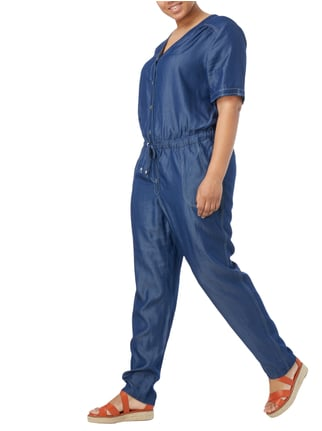 MAXIMA PLUS SIZE - Jumpsuit in Denimoptik in Blau / Türkis - 1