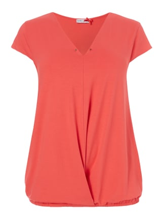 PLUS SIZE - T-Shirt in Wickeloptik Rot - 1