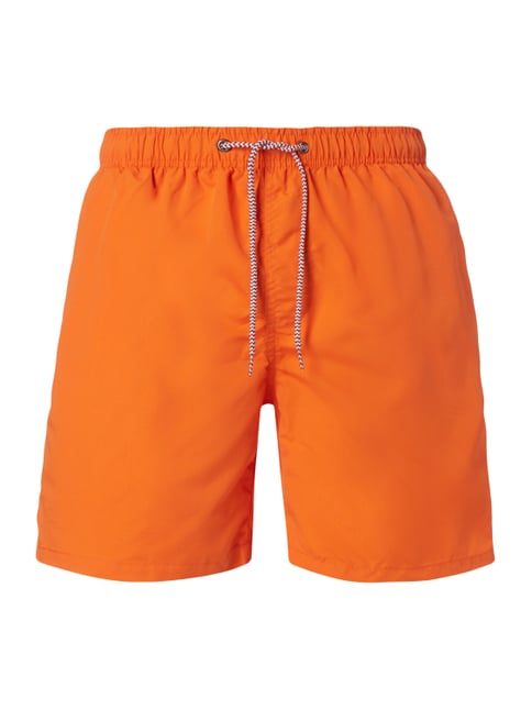 Badeshorts mit Logo-Stickerei Orange - 1