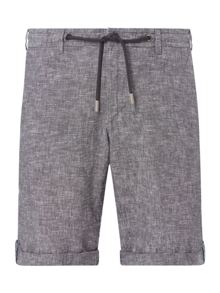 MCNEAL Chino-Shorts aus Leinen-Baumwoll-Mix Modell 'Tom' Grau - 1